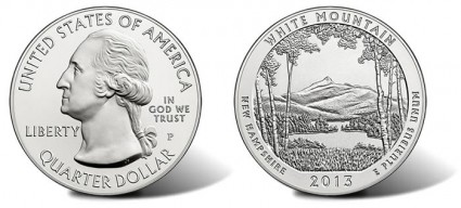 2013-P White Mountain National Forest Silver Uncirculated Coin