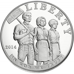 2014 Proof Civil Rights Act of 1964 Silver Dollar - Obverse