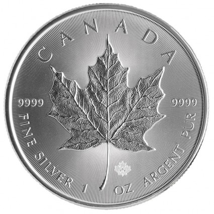 2014 Silver Maple Leaf Bullion Coin (Reverse)
