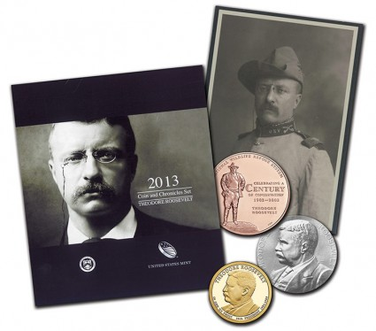 Theodore Roosevelt Coin and Chronicles Set