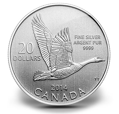 2014 $20 Canada Goose Commemorative Silver Coin