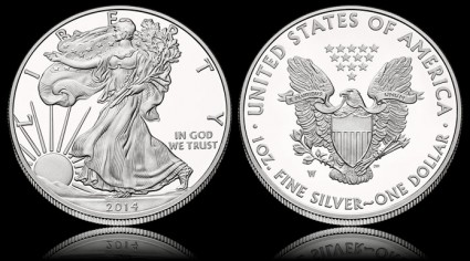 2014 Proof American Eagle Silver Coin