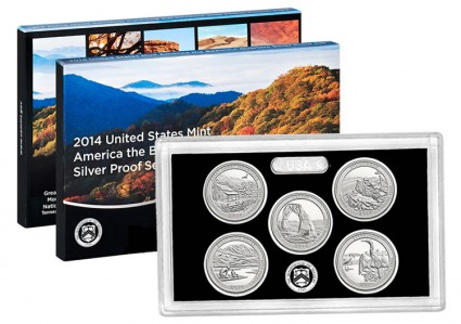 2014 Proof Set of 90 Percent America the Beautiful Silver Quarters
