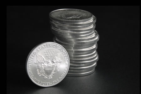 American Eagle silver coins (20)