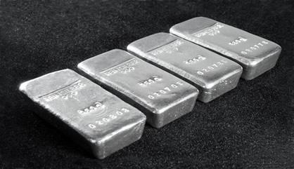 Four silver bars