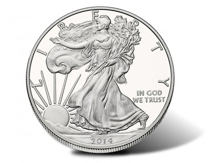 2014-W Proof Silver Eagle - Obverse