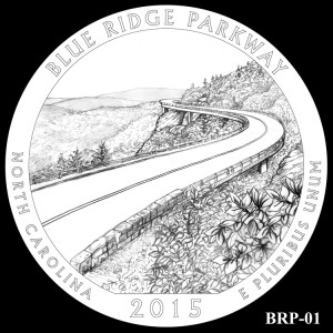 Blue Ridge Parkway Silver Coin, Design Candidate BRP-01