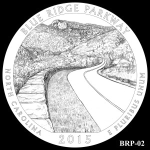 Blue Ridge Parkway Silver Coin, Design Candidate BRP-02