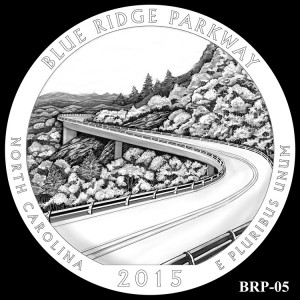 Blue Ridge Parkway Silver Coin, Design Candidate BRP-05