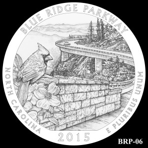 Blue Ridge Parkway Silver Coin, Design Candidate BRP-06