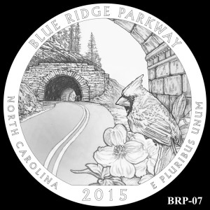 Blue Ridge Parkway Silver Coin, Design Candidate BRP-07