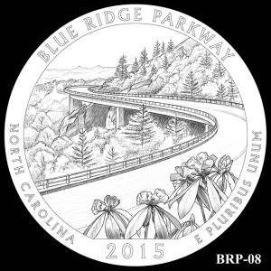 Blue Ridge Parkway Silver Coin, Design Candidate BRP-08