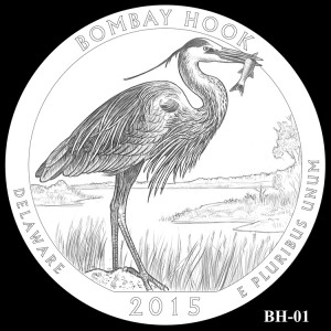 Bombay Hook National Wildlife Refuge Silver Coin, Design Candidate BH-01