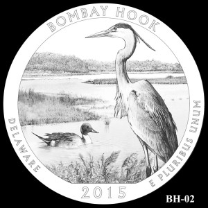 Bombay Hook National Wildlife Refuge Silver Coin, Design Candidate BH-02