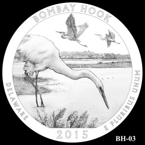 Bombay Hook National Wildlife Refuge Silver Coin, Design Candidate BH-03