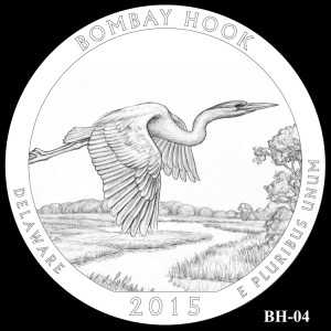 Bombay Hook National Wildlife Refuge Silver Coin, Design Candidate BH-04