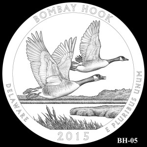 Bombay Hook National Wildlife Refuge Silver Coin, Design Candidate BH-05