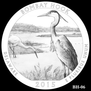 Bombay Hook National Wildlife Refuge Silver Coin, Design Candidate BH-06