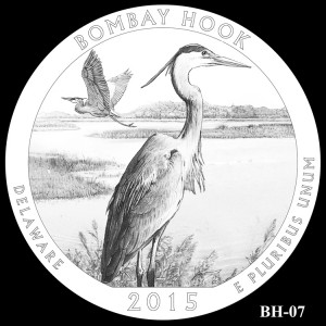 Bombay Hook National Wildlife Refuge Silver Coin, Design Candidate BH-07