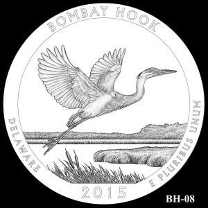 Bombay Hook National Wildlife Refuge Silver Coin, Design Candidate BH-08