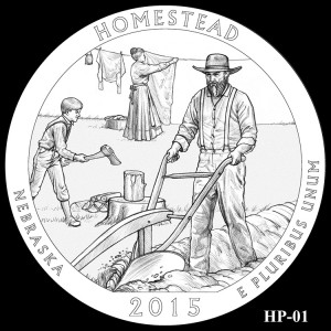 Homestead National Monument of America Silver Coin, Design Candidate HP-01