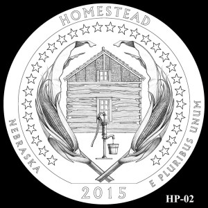 Homestead National Monument of America Silver Coin, Design Candidate HP-02