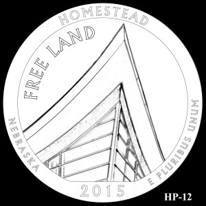 Homestead National Monument of America Silver Coin, Design Candidate HP-12