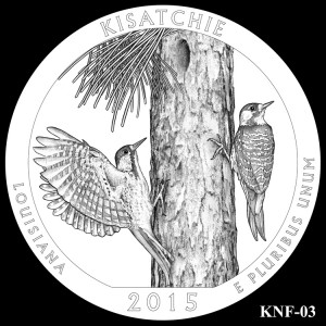 Kisatchie National Forest Silver Coin, Design Candidate KNF-03
