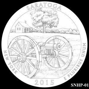 Saratoga National Historical Park Silver Coin, Design Candidate SNHP-01