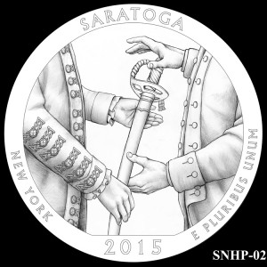 Saratoga National Historical Park Silver Coin, Design Candidate SNHP-02