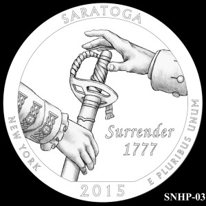Saratoga National Historical Park Silver Coin, Design Candidate SNHP-03