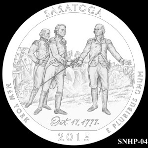 Saratoga National Historical Park Silver Coin, Design Candidate SNHP-04