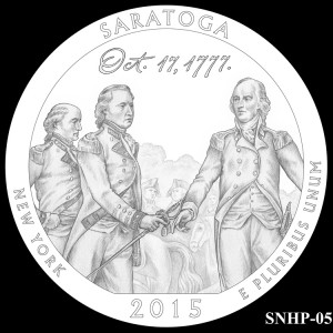 Saratoga National Historical Park Silver Coin, Design Candidate SNHP-05