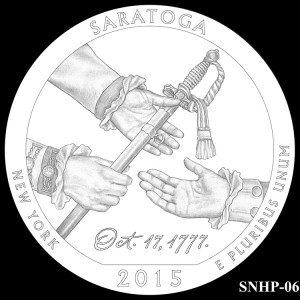 Saratoga National Historical Park Silver Coin, Design Candidate SNHP-06