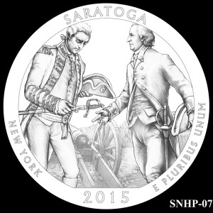 Saratoga National Historical Park Silver Coin, Design Candidate SNHP-07