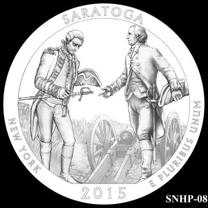 Saratoga National Historical Park Silver Coin, Design Candidate SNHP-08