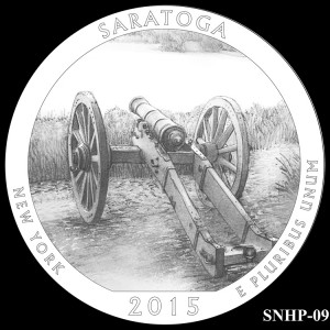 Saratoga National Historical Park Silver Coin, Design Candidate SNHP-09