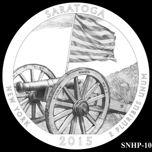 Saratoga National Historical Park Silver Coin, Design Candidate SNHP-10