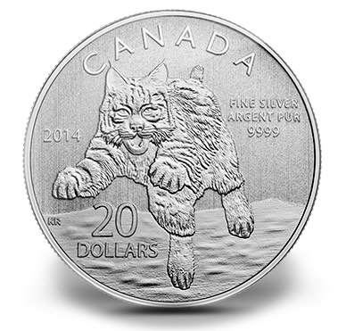 2014 $20 Bobcat Commemorative Silver Coin at Face Value   SCT