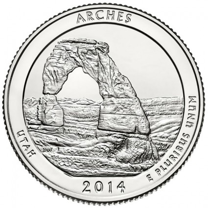 2014 Arches National Park Coin