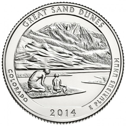 2014 Great Sand Dunes National Park Coin
