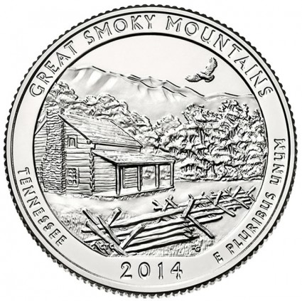 2014 Great Smoky Mountains National Park Coin