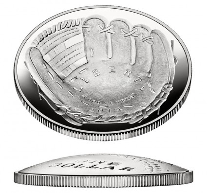 2014 Proof National Baseball Hall of Fame Silver Commemorative Coin