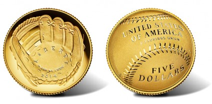 2014-W National Baseball Hall of Fame Proof Gold Coin