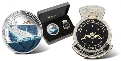 2014 Centenary of Australian Submarines Silver Coin and Replica Badge Set