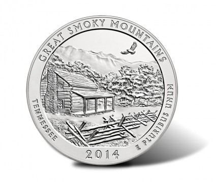 2014-P Great Smoky Mountains 5 Ounce Silver Coin