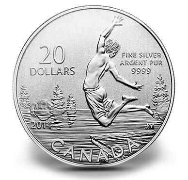 Canada 2014 $20 Snowman--Pure .9999 Silver Coin