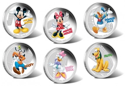 Disney Mickey and Friends Limited Edition Collectible 2014 Silver Coins