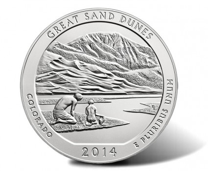 2014-P Great Sand Dunes Silver Uncirculated Coin