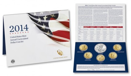 2014 United States Mint Annual Uncirculated $1 Coin Set